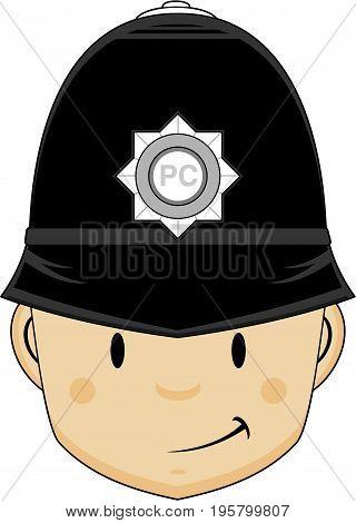 Cute Policeman Head.eps