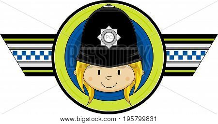 Cute Policewoman Badge