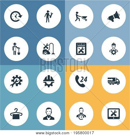 Vector Illustration Set Of Simple Service Icons