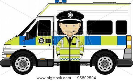 Hi-vis Policeman And Van.eps