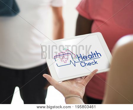 People medical health checkup examination