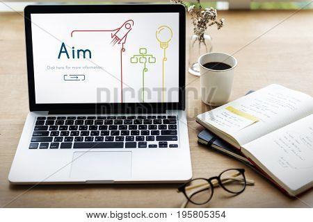 Aim Aspiration Goal Target Mission