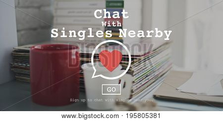 Chat with Singles Nearby heart symbol web interface
