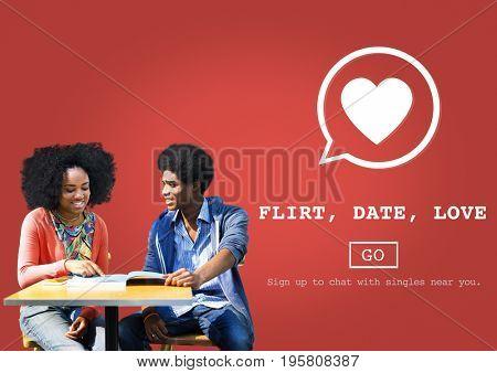 Flirt Date Love Valentine Romance Heart Passion Concept