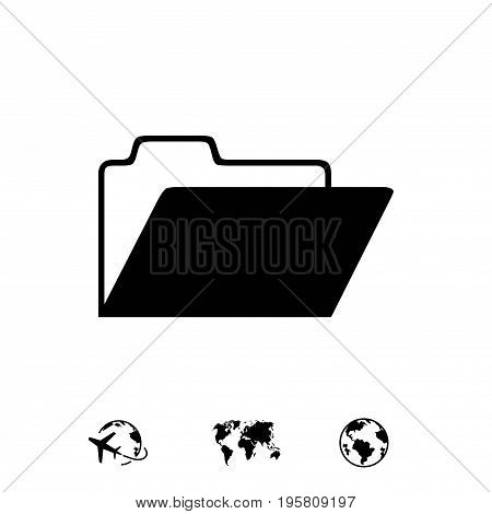 folder icon stock vector illustration flat design