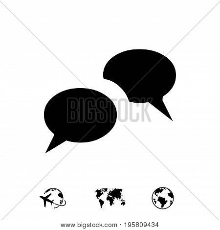 messages icon stock vector illustration flat design