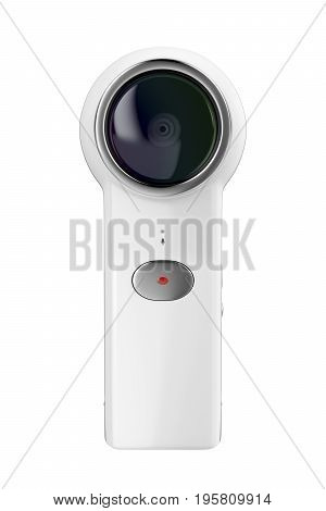3D illustration of 360 camera, isolated on white background