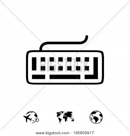 keyboard icon stock vector illustration flat design