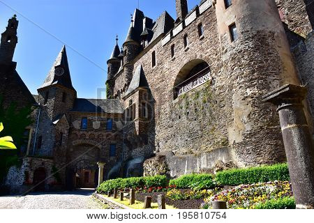 The Courtyard at Castle Reichsburg Cochem Germany.
