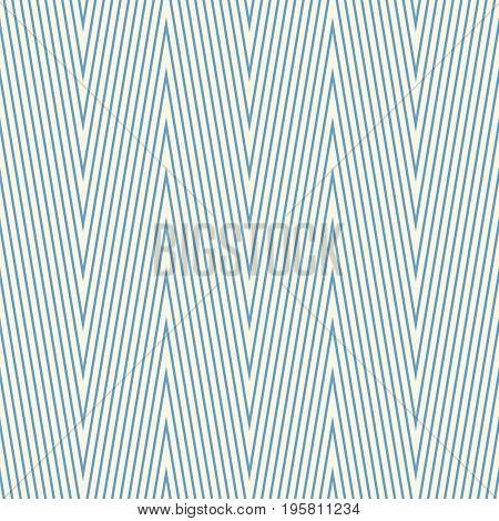 Seamless zig zag pattern. Chevron geometric endless swatch. Simple graphic design element. Scrapbooking, room wallpaper, flyer, poster, web site backdrop. Modern stylish texture. Vector illustration