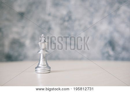 chess different or leadership or bravery with copy space vintage tone leadership business concept