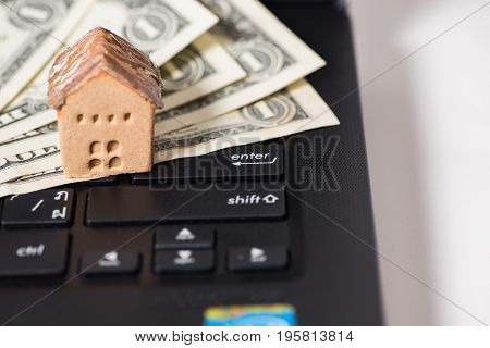 Banknote and House, business and  investment concept