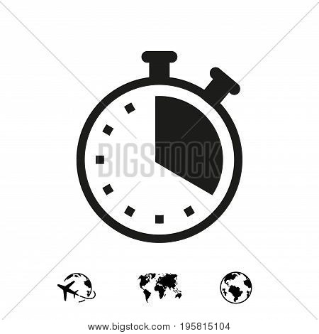 clock icon stock vector illustration flat design