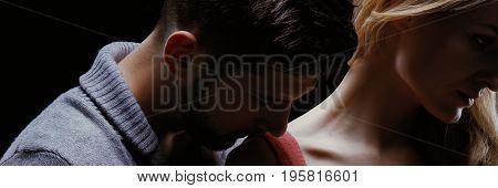 Sensual Kiss Close Up