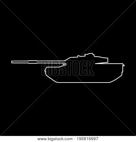 Tank White Color Path  Icon .