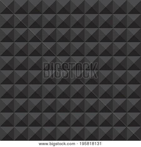 Abstract dark grey studded seamless pattern background. Vector illustration.