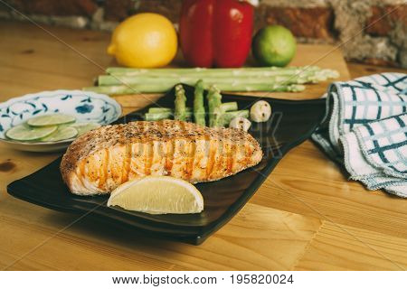 Grilled Salmon, Healthy Clean Food Style