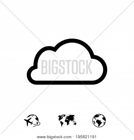 cloud icon stock vector illustration flat design