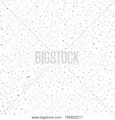 Seamless pattern, dense grunge textured hand drawn black spots. Vector illustration