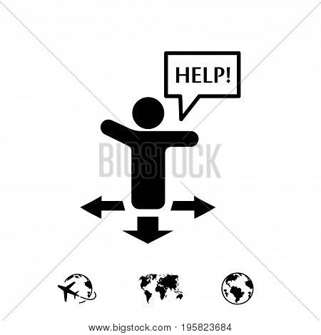 help icon stock vector illustration flat design