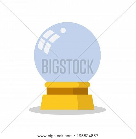Magic crystal ball. Magic ball icon in flat style. Vector stock.
