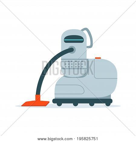Robot vacuum cleaner vector Illustration isolated on a white background