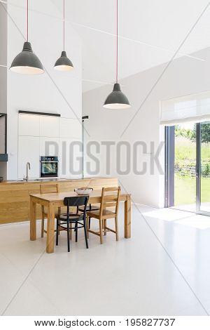 Spacious Interior Of Kitchen
