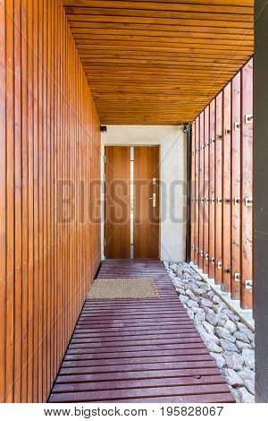 Entryway To A Modern House