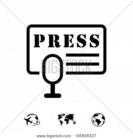 press icon stock vector illustration flat design