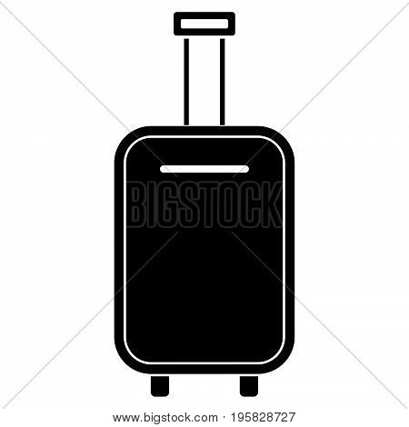 Luggage Bag Black Color Icon .