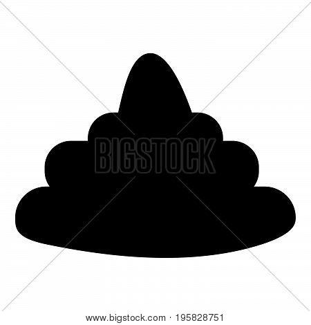 Poo Black Color Icon .
