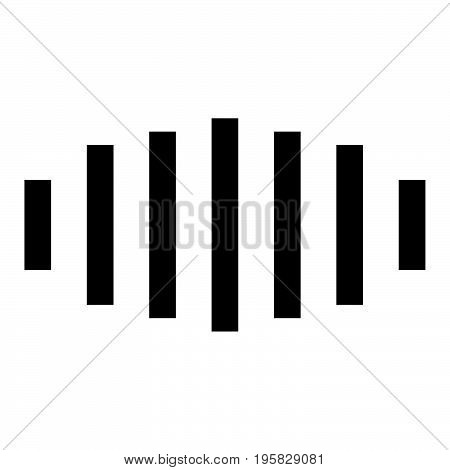 Digital Signal Black Color Icon .
