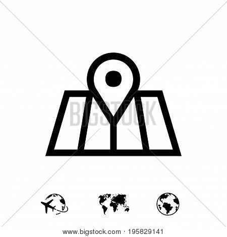 navigation icon stock vector illustration flat design