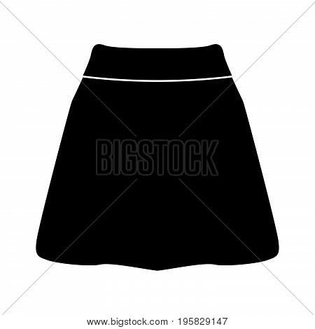 Skirt Black Color Icon .
