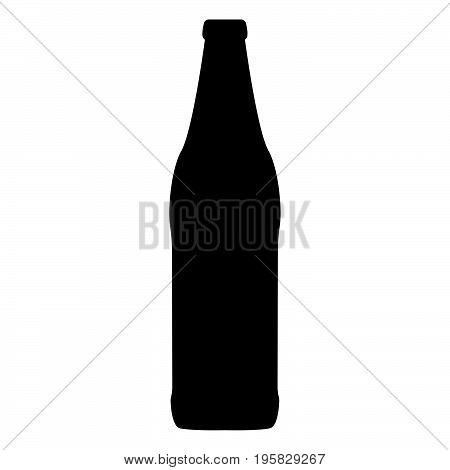 Beer Bottle Black Color Icon .