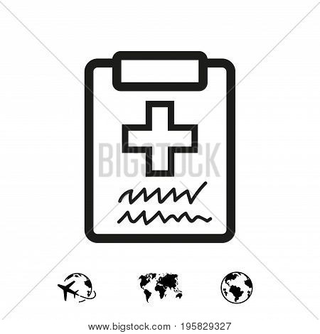 Doctor with clipboard. clipboard with checklist. Medical report icon stock vector illustration flat design