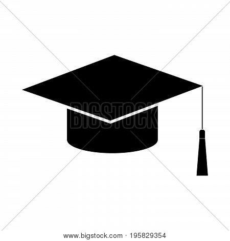 Graduation Cap Black Color Icon .