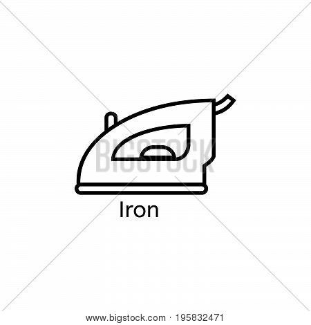 Iron simple line icon. Ironing clothes thin linear signs. Cleaning the house concept for websites, infographic, mobile app
