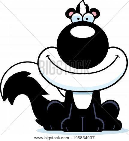 Smiling Cartoon Skunk