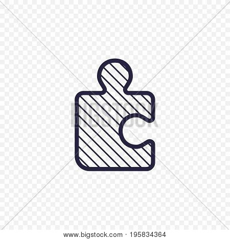 Puzzle Game Line Icon. Jigsaw Piece Thin Linear Signs. Outline Solution Simple Concept For Websites,