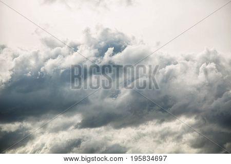 Dramatic cloudy sky wide shot backdrop heaven