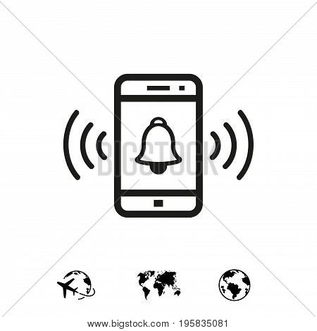 phone rings icon stock vector illustration flat design