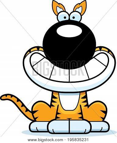 Happy Cartoon Tasmanian Tiger