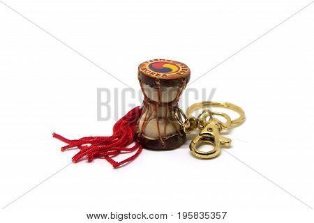 Korean drum, One the Korean souvenir isolated on white background.