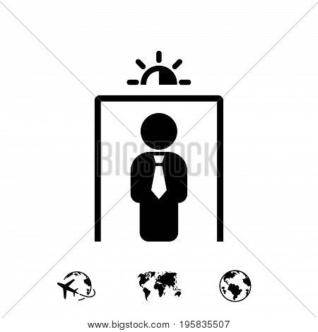 metal detector icon stock vector illustration flat design