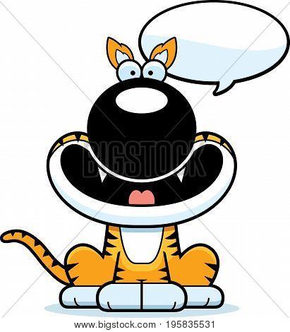 Talking Cartoon Tasmanian Tiger