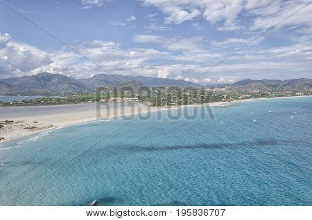 View of the Mediterranean sea in South Sardinia
