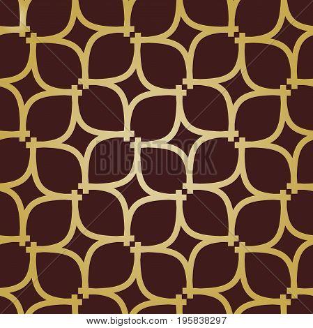 Seamless vector golden ornament. Modern background. Geometric modern pattern