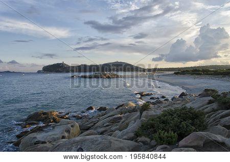 View of the coatline of the Sardinia