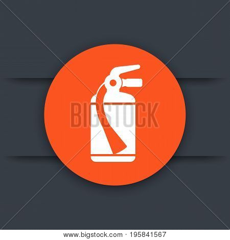 fire extinguisher vector icon, eps 10 file, easy to edit